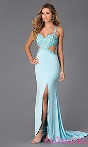 Buy Long Open Back Sweetheart Dress by Alyce at PromGirl