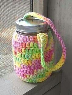 Mason jar cozy tote pattern