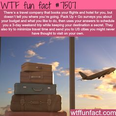 WTF Fun Facts is updated daily with interesting & funny random facts. We post about health, celebs/people, places, animals, history information and much more. New facts all day - every day! Travel List, Travel Goals, Travel Bucket Lists, Bucket List Life, Solo Travel, Oh The Places You'll Go, Places To Travel, Travel Destinations, Pack Up And Go