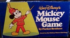 Board Game,Walt Disney's Mickey Mouse Music Game, By Parker Brothers, Vingate - Complete (1976) by FriendsRetro on Etsy