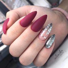 Almond Nails Pink, Matte Pink Nails, Oval Nails, Acrylic Nails, Pink Manicure, Diy Nails, Cute Nails, Almond Nails Designs, Thanksgiving Nails