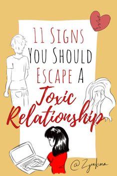 11 Signs You Should Escape A TOXIC RELATIONSHIP #signs #toxicrelationship #relationships