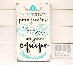 No somos perfectos....