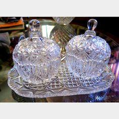 Studio Crystal Condiment 5 Piece Serving Set | Kings Auction & Appraisal