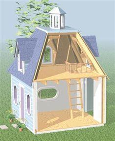 Lighthouse Playhouse Woodworking Plan #kidsplayhouseplans