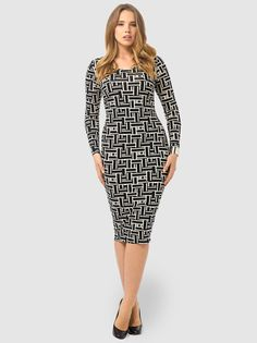 Bodycon Dress In Grid Print by ASOS Curve,Available in sizes 14/16,18/20 and 22/24
