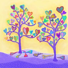 """Heart Tree II"" by Darlene Seale"