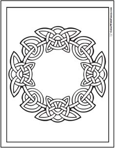 Celtic Ring Design Coloring Page PrintableColoringPages At ColorWithFuzzy