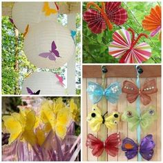 are some great butterfly party ideas! are some great butterfly party ideas! Butterfly Garden Party, Butterfly Birthday Party, Butterfly Baby Shower, Butterfly Mobile, Butterfly Party, 3rd Birthday Parties, Twin Birthday, Birthday Kids, Ninja Party