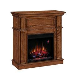Boston Loft Furnishings 44 5 In W 4 700 Btu Espresso Wood Fan Forced Electric Fireplace With