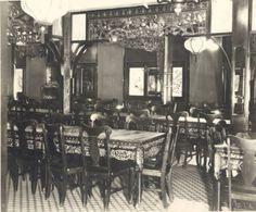 Hong Ying Lo Restaurant interior - c. 1929