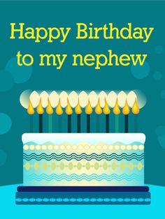Happy Birthday Cake Card For Nephew
