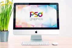 Free iMac Mockup PSD | PSD Graphics | #free #photoshop #mockup #psd #apple #iMac