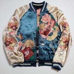 b8867e7c2af I never knew I needed a souvenir jacket. Thanks Pinterest. Satin Bomber  Jacket