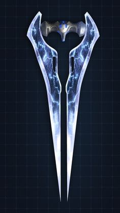 Halo Energy Sword Inspiration - One of my favourite weapons in halo. Causes good damage and looks good. Looks quite futuristic in my opinion. The use of symmetry is simple here but effective.