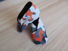Camouflage Patterned Baby Booties by LittleScottishThings on Etsy