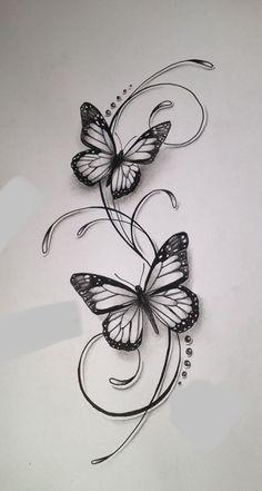 Schmetterlinge tattoos tattoo designs, tattoo drawings и butterfly tattoo. Butterfly Tattoos For Women, Small Butterfly Tattoo, Small Flower Tattoos, Butterfly Tattoo Designs, Small Tattoos, Cool Tattoos, Butterfly Drawing, Simple Butterfly, Drawing Flowers