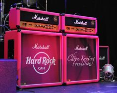 Hard Rock Pink Marshall Amps for #Pinktober.