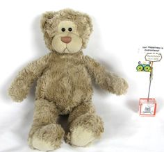 "Gund Wally 43696 brown teddy bear plush 13""  fluffy dark stuffed tan swirls  #GUND"