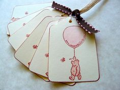 Winnie the Pooh Gift Tags  Classic Pooh by kindredspiritcrafts, $4.25