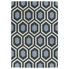Hand-tufted Charcoal Geo Rug (5' x 7')   Overstock.com Shopping - The Best Deals on 5x8 - 6x9 Rugs