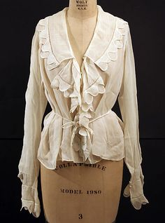 Blouse,   Date: 1915–17  Love the edging