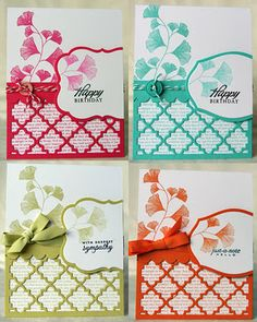 Beautiful card set created for the Jan.'12 PTI blog hop