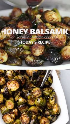 Roasted Brussels sprouts are not just incredibly easy to prepare, but also, this is one of the most popular holiday side dish recipes on this website! With a sweet balsamic glaze covering the sprouts, Veggie Side Dishes, Side Dish Recipes, Vegetable Dishes, Food Dishes, Simple Vegetable Recipes, Veggie Recipes Sides, Grilled Brussel Sprouts, Roasted Sprouts, Marinated Brussel Sprouts Recipe