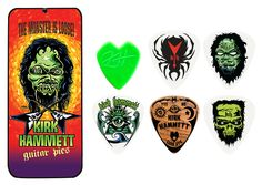 unusual guitar picks | ... Manufacturing :: Guitar Picks :: :: Kirk Hammett Signature Picks