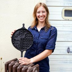 Still one of our favorite makers! 2012 American Made Honoree Artist, Alisa Toninato, of the American Skillet Company (FeLion Studios) makes classic cast-iron skillets in the shape of one's home state. It makes a meaningful gift for any occasion. http://amzn.to/1QsZT6B
