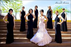Bride with Bridesmaids dont care for the dresses but the colors and pose is cool =P