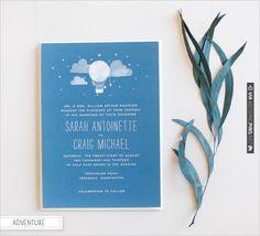 adventure wedding invites | VIA #WEDDINGPINS.NET