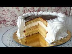 Italian meringue and chocolate cake Italian Meringue, Cupcake Recipes, Italian Recipes, Italian Foods, Chocolate Cake, Tiramisu, Cheesecake, Food And Drink, Appetizers