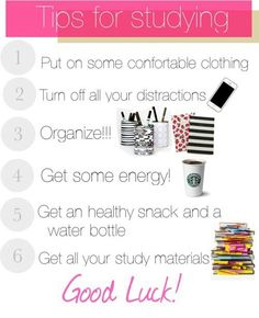 - tips for studying.