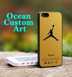 Air Jordan Gold Custom - Print on Hard Cover iPhone 5 Black Case