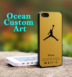 Air Jordan Gold Custom - Print on Hard Cover iPhone 5 Black Case