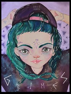 Grimes fan art by ll0ll3 << why isn't there more Grimes fan art.  I desperately need more of this.