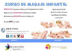 Curso de Masaje Infantil para padres y madres.  ¿Quieres mejorar la calidad de vida de tu bebé? En este curso tienes la oportunidad de aprenderlo.   ¡Reserva tu plaza!