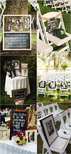 —wedding ideas to remember loved ones #weddingideas #weddinginspiration