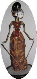 Wayang golek - Indonesian puppet - My cousin got one for me for Christmas