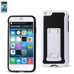 Reiko Horizontal And Vertical Kickstand Case Iphone 6/6S Plus 5.5Inch Black White