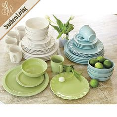 Southern Living Dinnerware - bowls & salad plates x 12 please, in white.