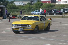 #Yellow 1967 Chevrolet Camaro at the 2011 Heidt's Challenge