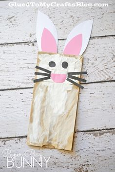 Paper Bag Bunny - Spring Themed Kid Craft Idea