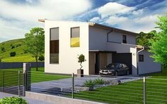 Návrh rodinného domu Kód od APEX ARCH s.r.o. Mansions, House Styles, Home Decor, Decoration Home, Manor Houses, Room Decor, Villas, Mansion, Home Interior Design