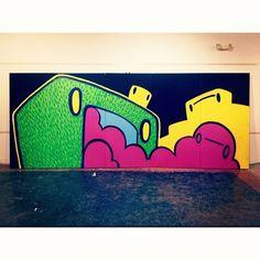 Sneak Peek --> Woodward Windows Project with Street Culture Mash. Art by Icon --> #PlutoniumPaint #SprayPaint #CanvasArt #StreetArt #PublicArt #Detroit @plutoniumpaint- #webstagram