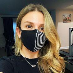 High-Quality Washable & Adjustable Black/Gray Face Masks with Pocket Filter Mouth Mask Fashion, Fashion Face Mask, Diy Mask, Diy Face Mask, Face Masks, Nose Mask, Mask Design, Mask Making, Black And Grey
