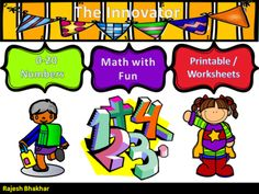 Learning Numbers with Fun…..! from Innovator on TeachersNotebook.com (18 pages)