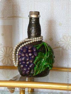 Itens de decoração cracelures garrafa modelagem de aplicações com uvas das Guardanapos teste salgados casca de ovo massa sal foto 1