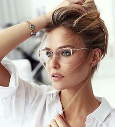 trendy glasses frames for women made of thin metals - trendy glasses . - trendy glasses frames for women made of thin metals – trendy glasses frames for women mad - New Glasses, Glasses Online, Girls With Glasses, Rose Gold Glasses, Glasses Style, Cat Eye Glasses, Bride With Glasses, Glasses Outfit, Makeup For Glasses